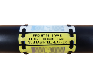 RFID-HT Cable Label - RFID High Temperature 225°C Cable Labels